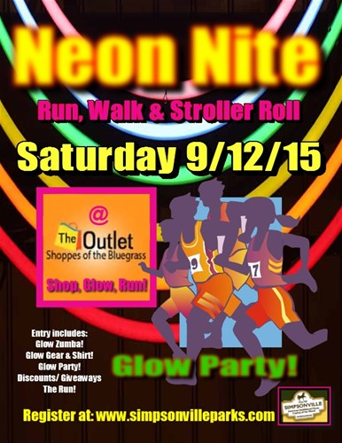 The Outlet Shoppes of the Bluegrass Neon Nite Run, Walk & Stroller Roll
